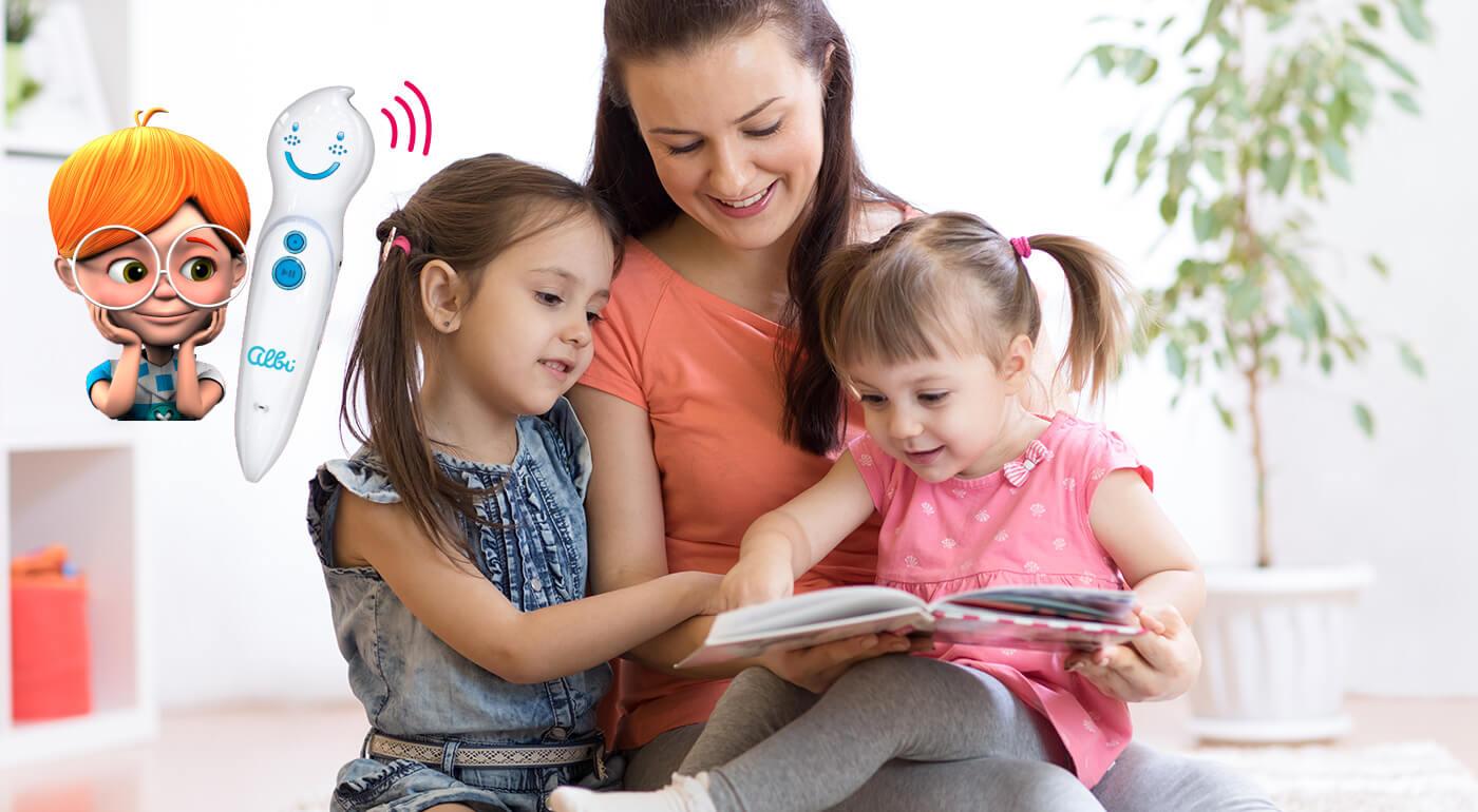 Hračka roka: kúzelné čítanie ALBI - interaktívne knihy pre deti