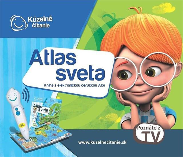 ALBI Kúzelné čítanie: kniha Atlas sveta s elektronickou ceruzkou Albi