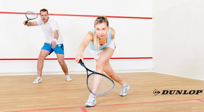 Squashové rakety a loptičky Dunlop