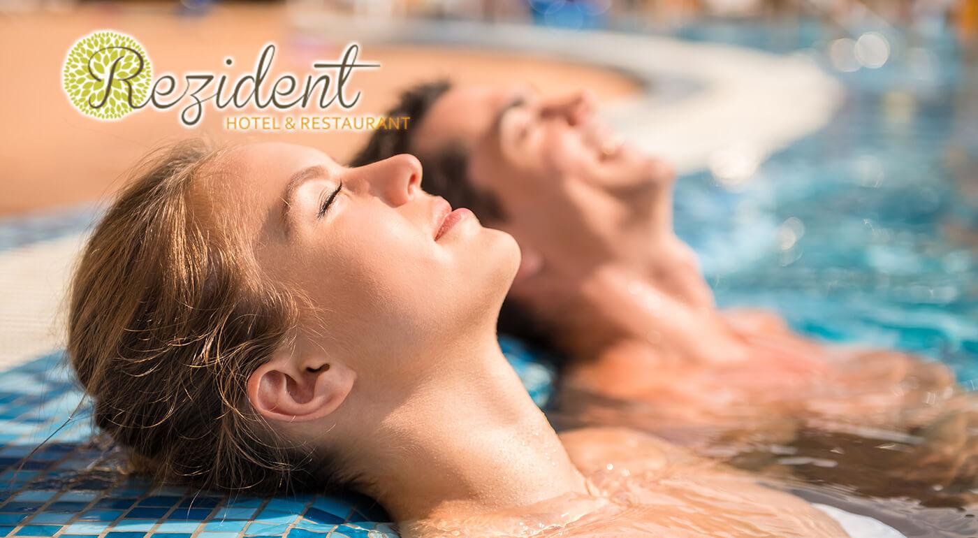 Hotel Rezident*** Turčianske Teplice: Relaxačný pobyt Klasik alebo Gold s procedúrami, vstupom do aquaparku a s polpenziou