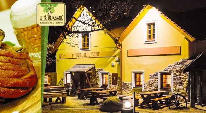 Moravskému vidieku sa nedá povedať nie! Užite si skvelý pobyt v Penzione U Tří Jasanů na 3 alebo 4 dni so skvelou polpenziou. K jednej večeri máte dokonca grátis 2 litre sudového vína!