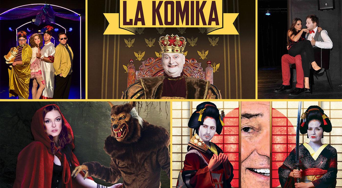 Divadlo LA KOMIKA v Bratislave - vstupenky na predstavenia podľa vlastného výberu 1+1 zadarmo