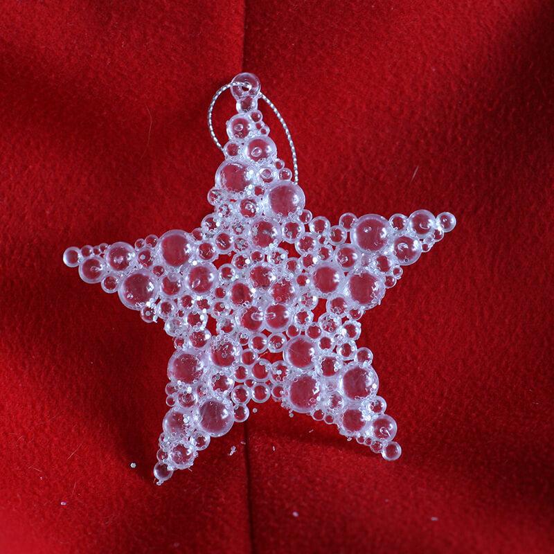 Plastové vianočné ozdoby - hviezdy (2 ks)