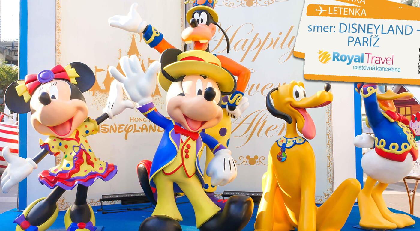 Letecký poznávací zájazd Paríž a Disneyland na 4 dni