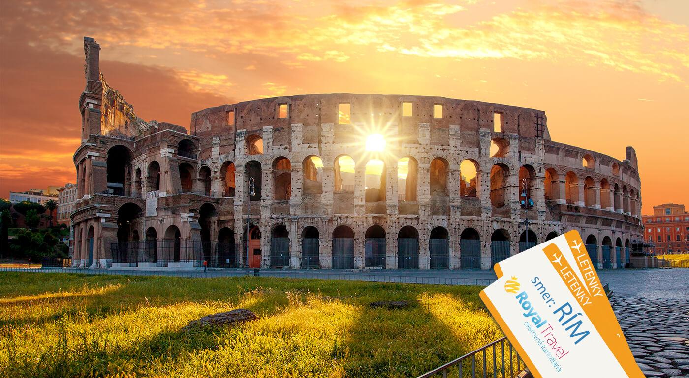 Taliansko: Rím na 5-dňovom poznávacom zájazde s leteckou dopravou v cene a s kúpaním na plážach v Antickej  Ostrii