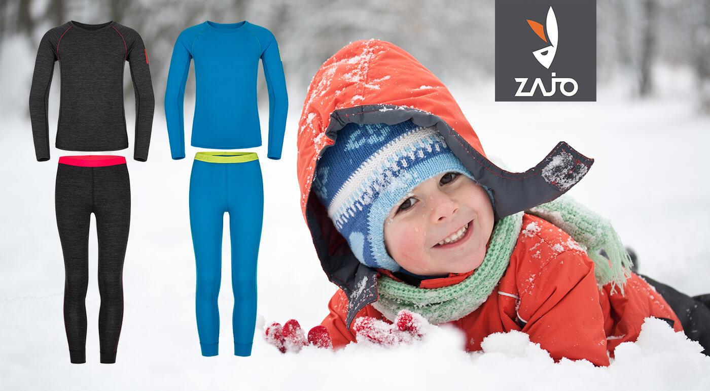 Detské merino oblečenie ZAJO - prírodné spodné prádlo chrániace pred extrémnym počasím
