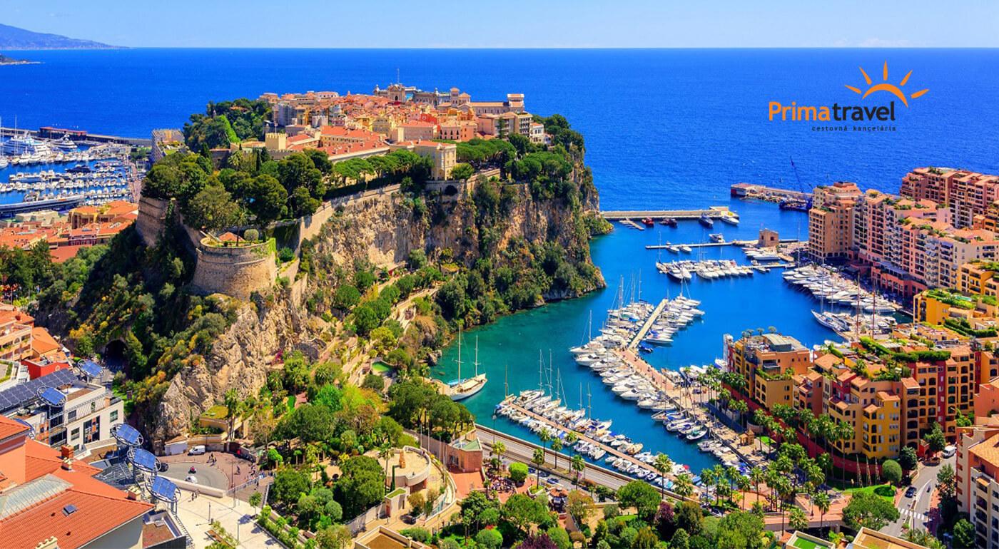 Francúzska riviéra: Monako, Nice a ďalšie zaujímavosti na slnečnom 5-dňovom zájazde