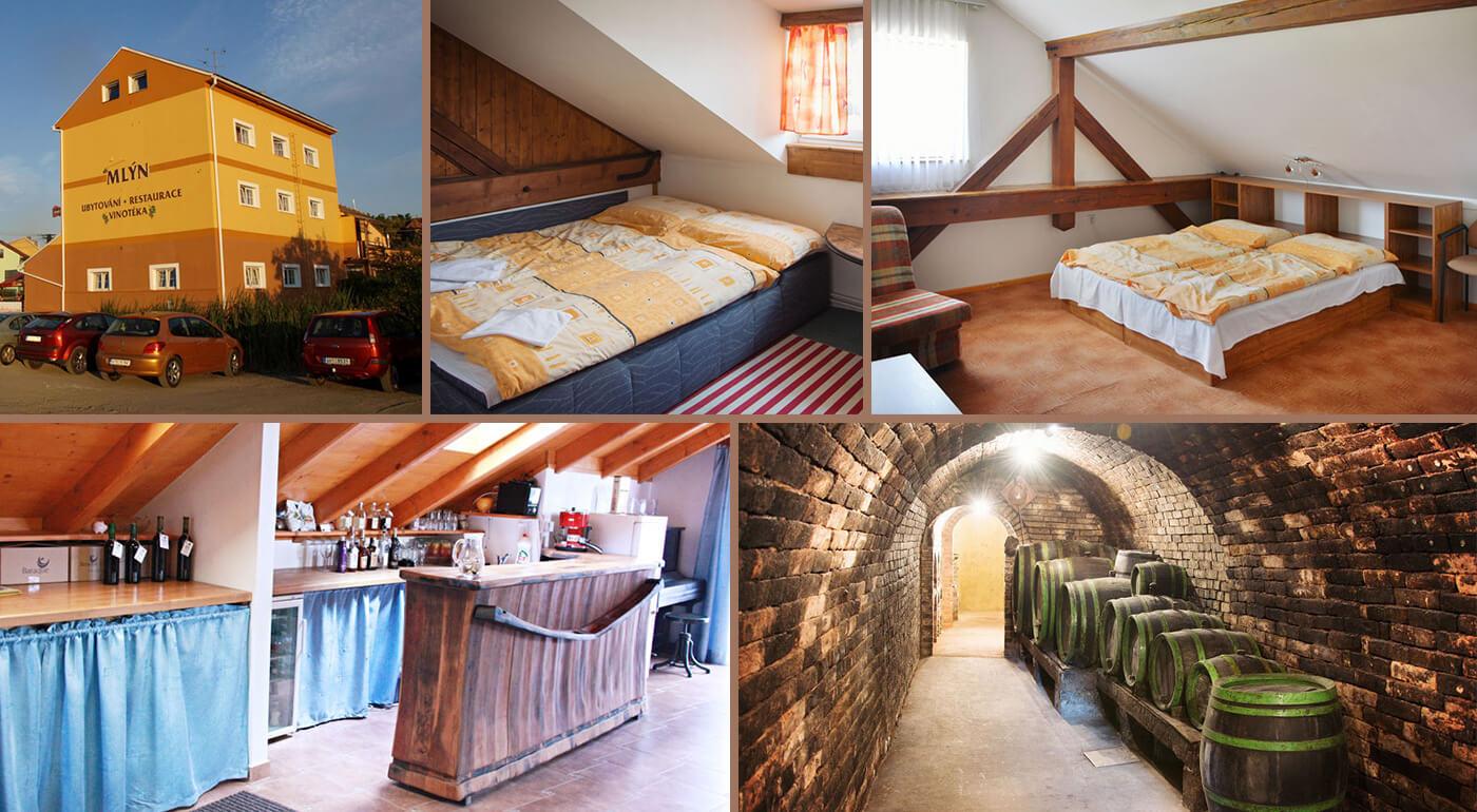 Vinársky pobyt pre dvoch s polpenziou a neobmedzenou konzumáciou vín s rautom v Penzióne Mlýn na Morave