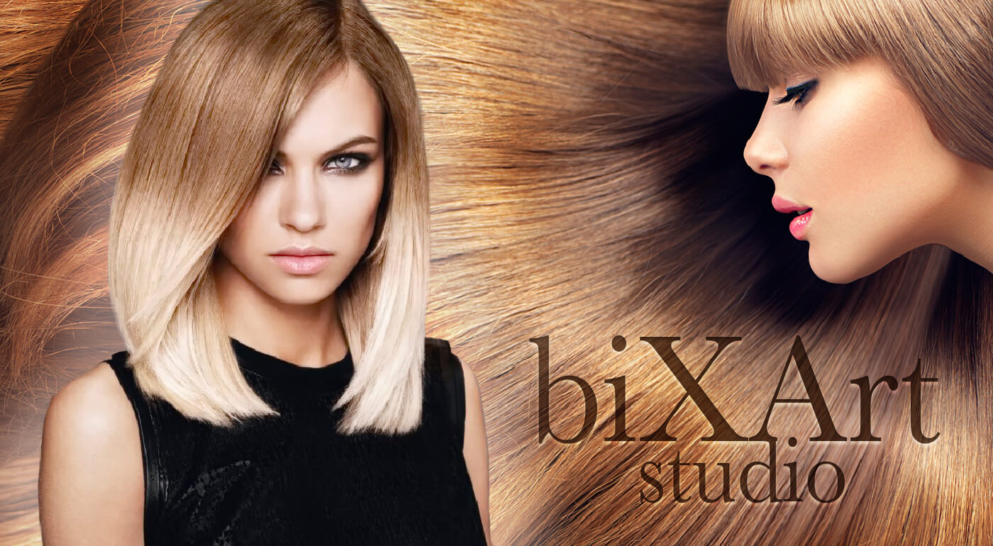 Sombré melír, umytie, strihanie, sušenie, konečný styling (kratšie vlasy)
