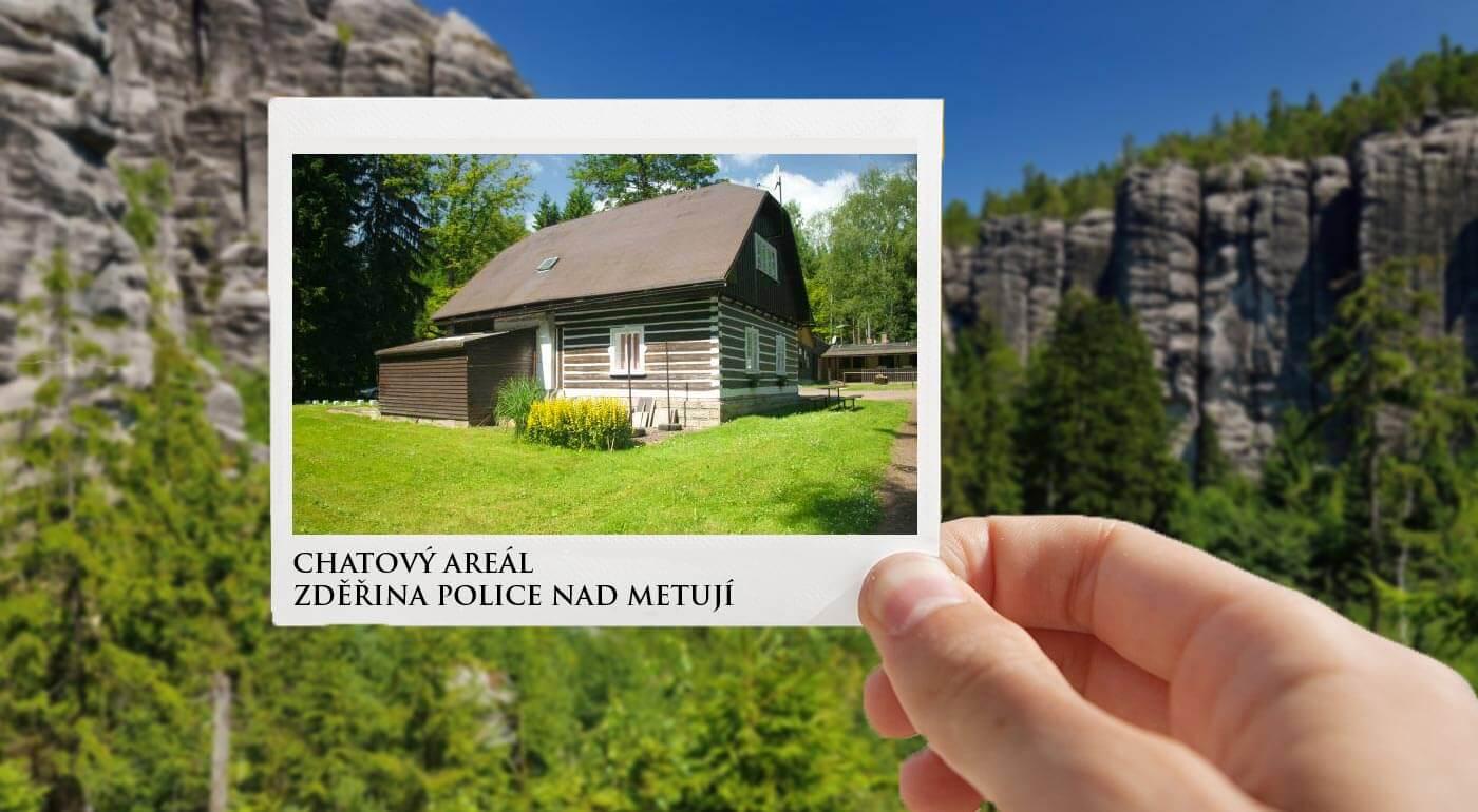 Chatky Zděřina pri Adršpachu v pokojnej prírode s ubytovaním na 3-6 dní pre 2 osoby s polpenziou