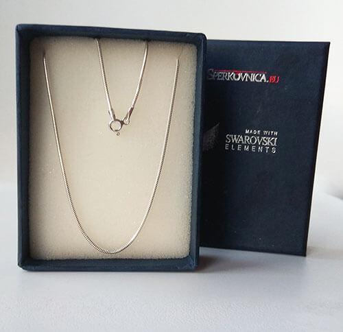 Strieborná retiazka v darčekovej krabičke - iba s kúpou prívesku Swarovski