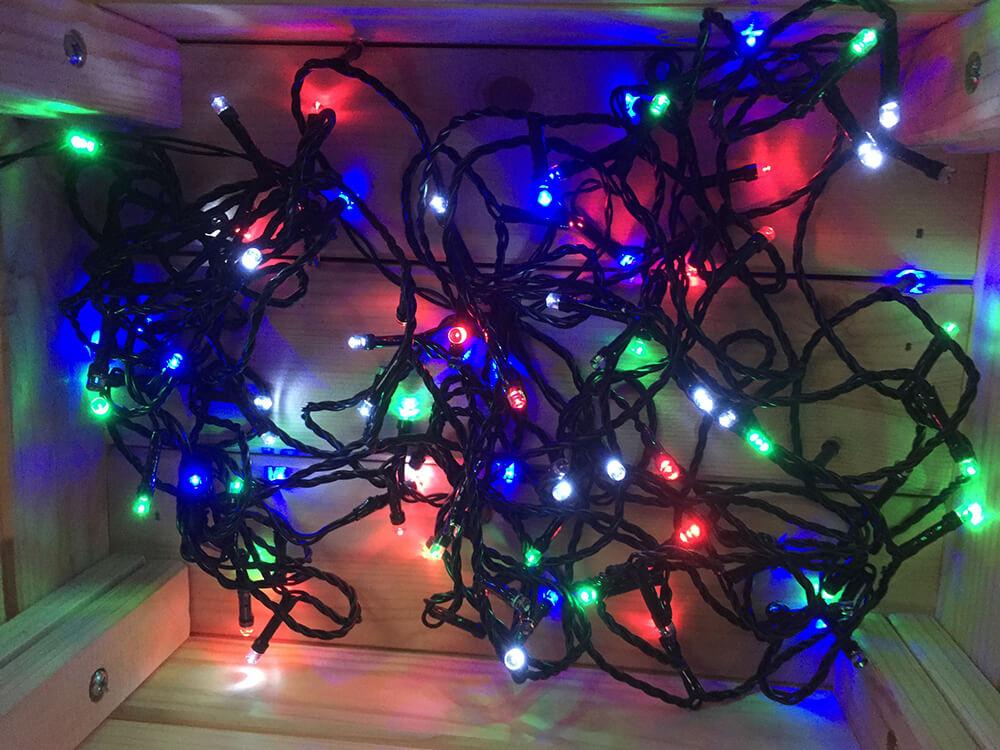 Vianočné LED osvetlenie na batérie - farba mix