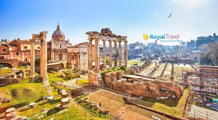Prezrite si na vlastné oči miesta, kde sa zrodila fascinujúca história rímskeho impéria! S CK Royal Travel letecky z Bratislavy!