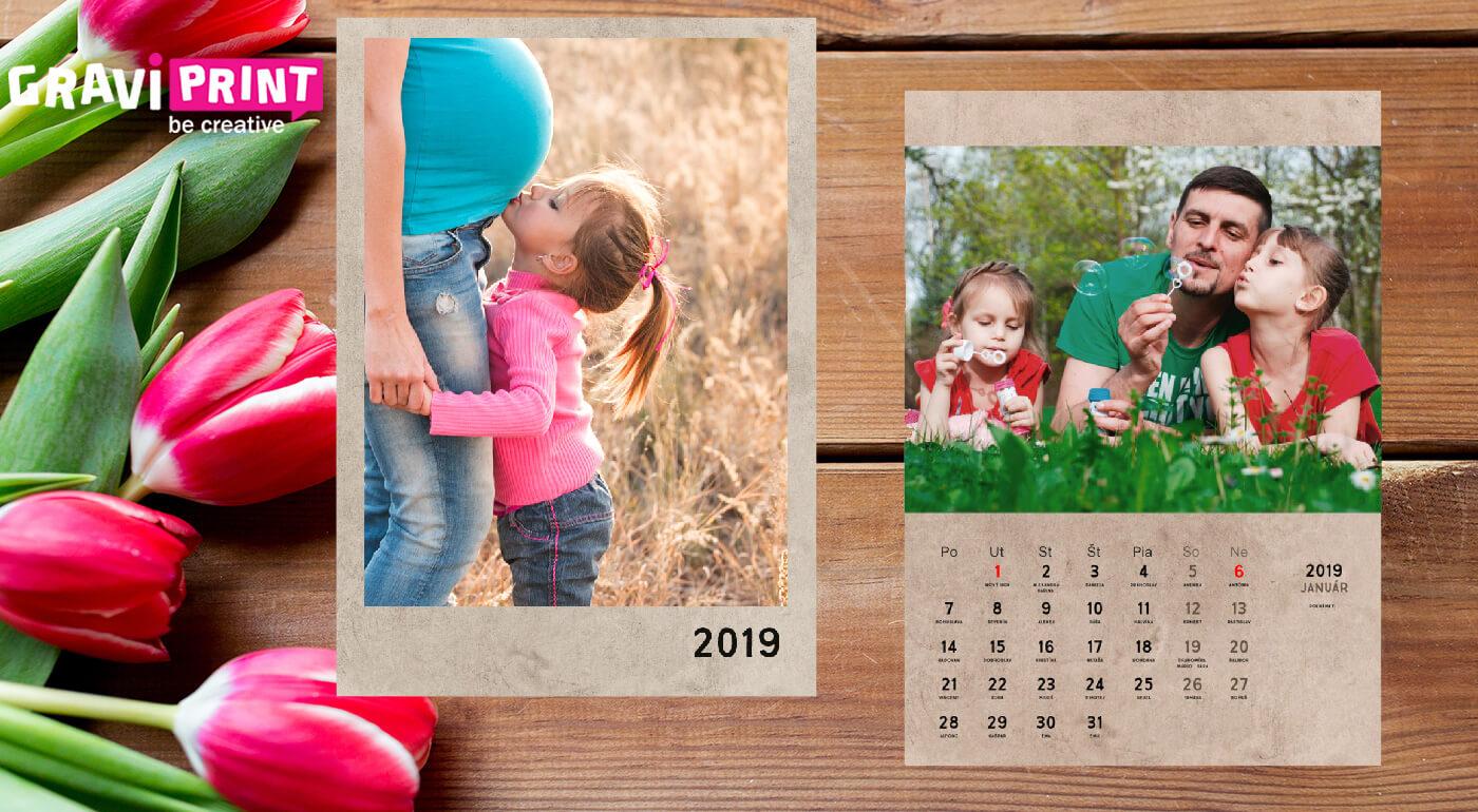 Originálny nástenný kalendár s fotografiami podľa vášho výberu vo formáte A4 alebo A3