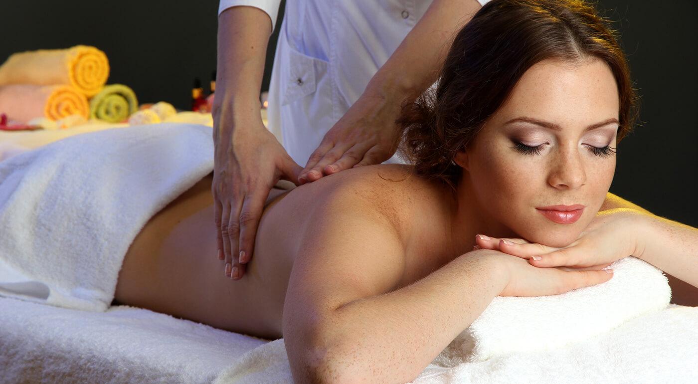 Uvoľňujúce masáže tváre, chrbta alebo celého tela výhradne pre dámy