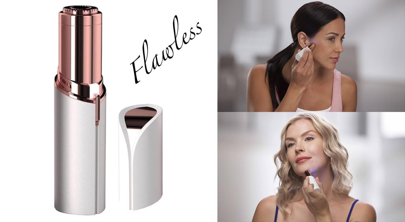 Dámsky epilátor Flawless - bezchybné odstránenie jemných chĺpkov na tvári
