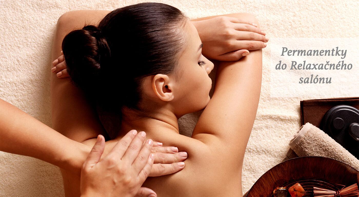 Permanentka na masáž chrbta alebo celého tela výhradne pre dámy v Relaxačnom salóne v Bratislave