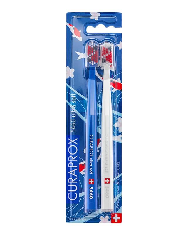 Curaprox zubné kefky - Japonská edícia (5460 ultra soft - 2 ks v balení) - modro-biela