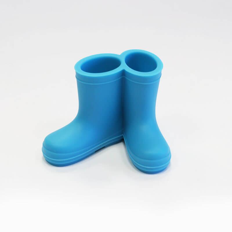 Hoobbe Stojan na zubné kefky - čižmičky (modré)