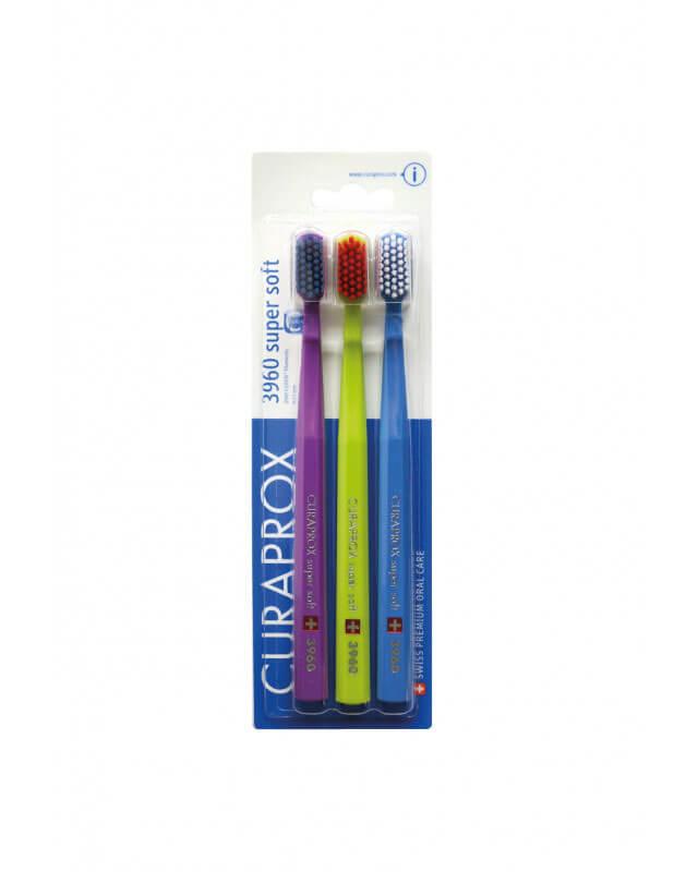 Curaprox 3960 super soft zubné kefky trojbalenie - typ 3