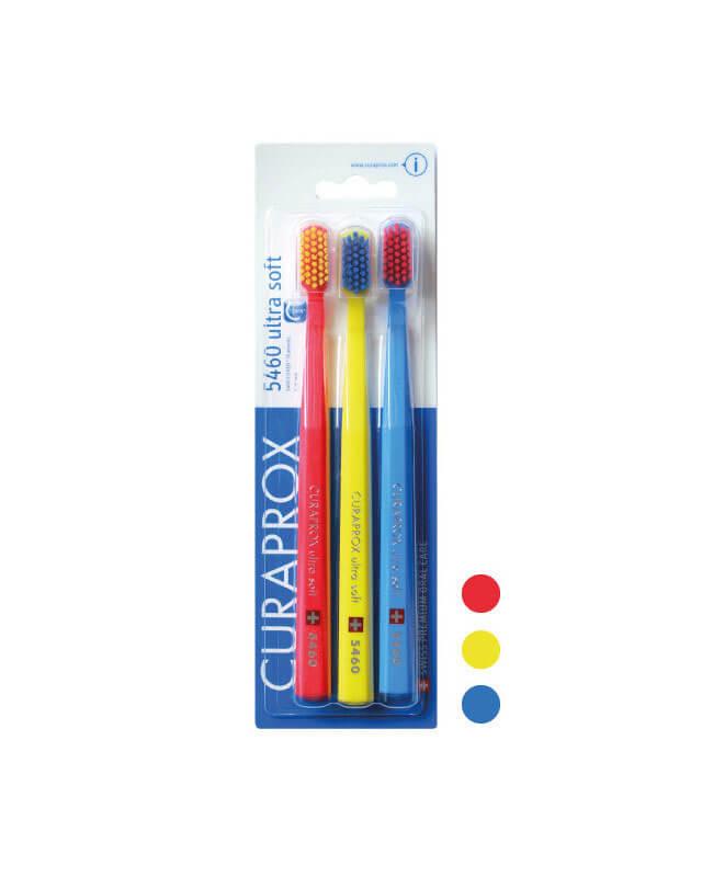 Curaprox 5460 ultra soft zubné kefky trojbalenie - typ 1