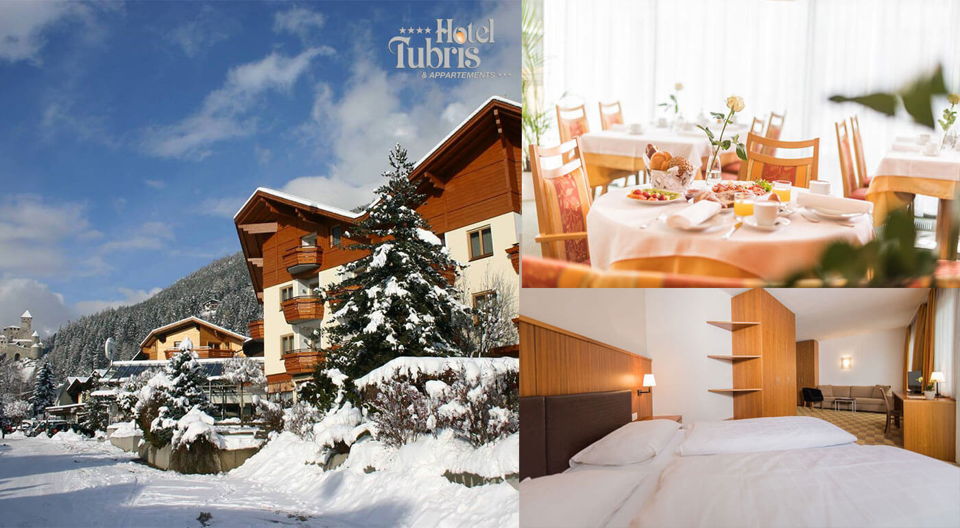 Taliansko: Zimná dovolenka v Hoteli Tubris**** s uvítacím drinkom neďaleko hradu Tures