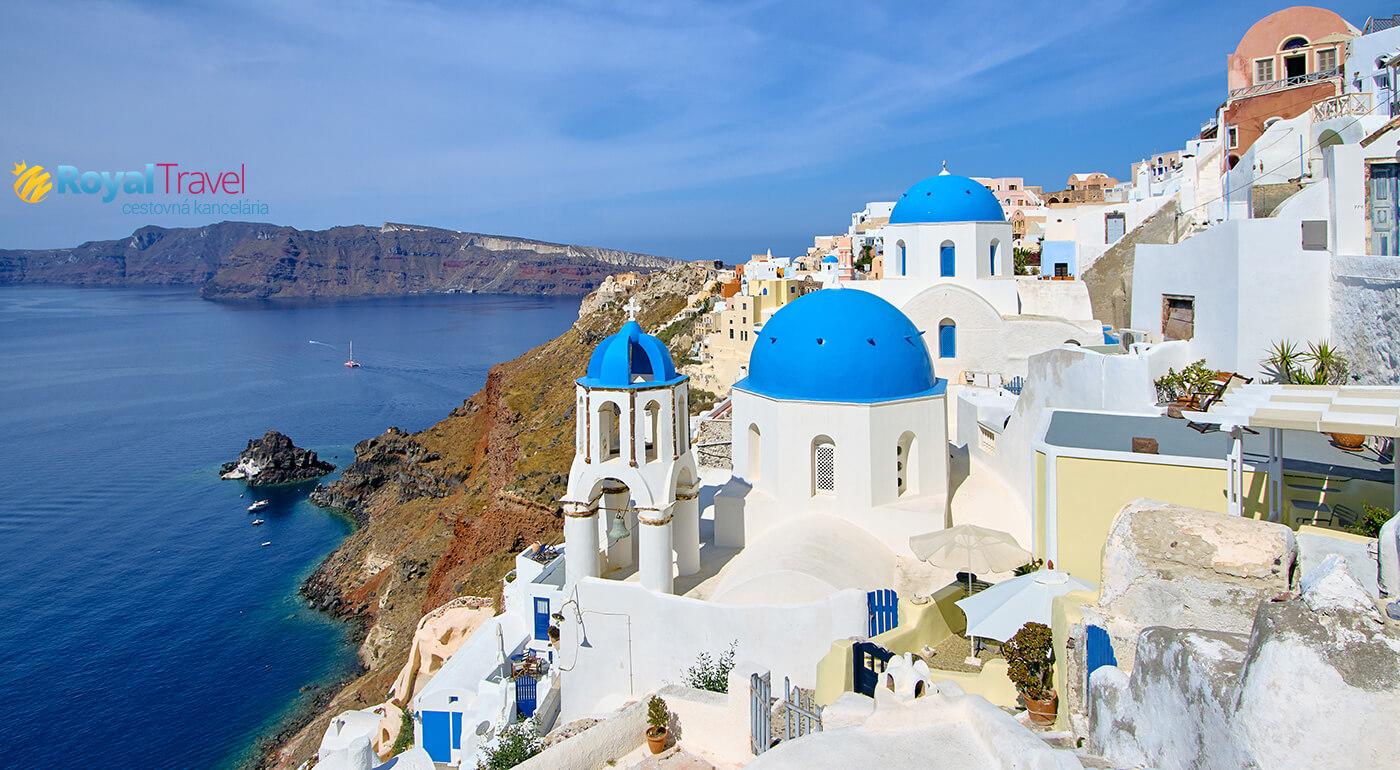 Grécko: Letecký poznávací zájazd na ostrov Santorini na 6 dní