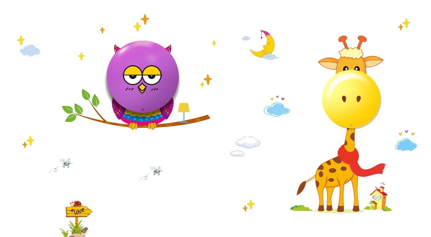 Dotyková LED lampa pre deti v tvare sovičky alebo žirafy - doplnok, ktorý krásne rozžiari každú detskú izbu