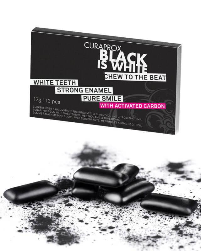 Curaprox Black is White žuvačky 12ks