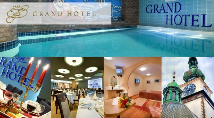 Grand Hotel**** Třebíč - prežite 3 romantické dni v srdci historického českého mesta. Nenechajte si ujsť pamiatky UNESCO, raňajky, romantickú večeru pri sviečkach či hotelový bazén.