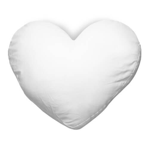 Kama štúdio: Vankúš s vlastnou potlačou - srdce 40x35 cm (saténový povrch)