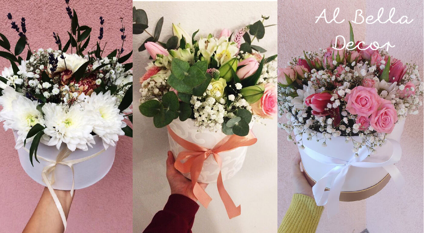 Kvetinový box biely - veľkosť S (priemer 12 cm, výška 12 cm)