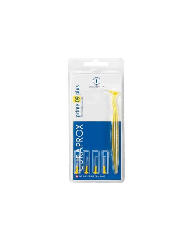 Curaprox CPS 09 Prime Plus Medzizubná kefka žltá (5ks + 1ks držiak UHS 451)