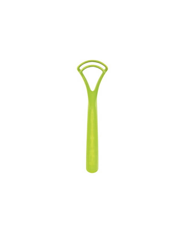 Curaprox CTC 202 Škrabka na jazyk dvojčepeľová zelená