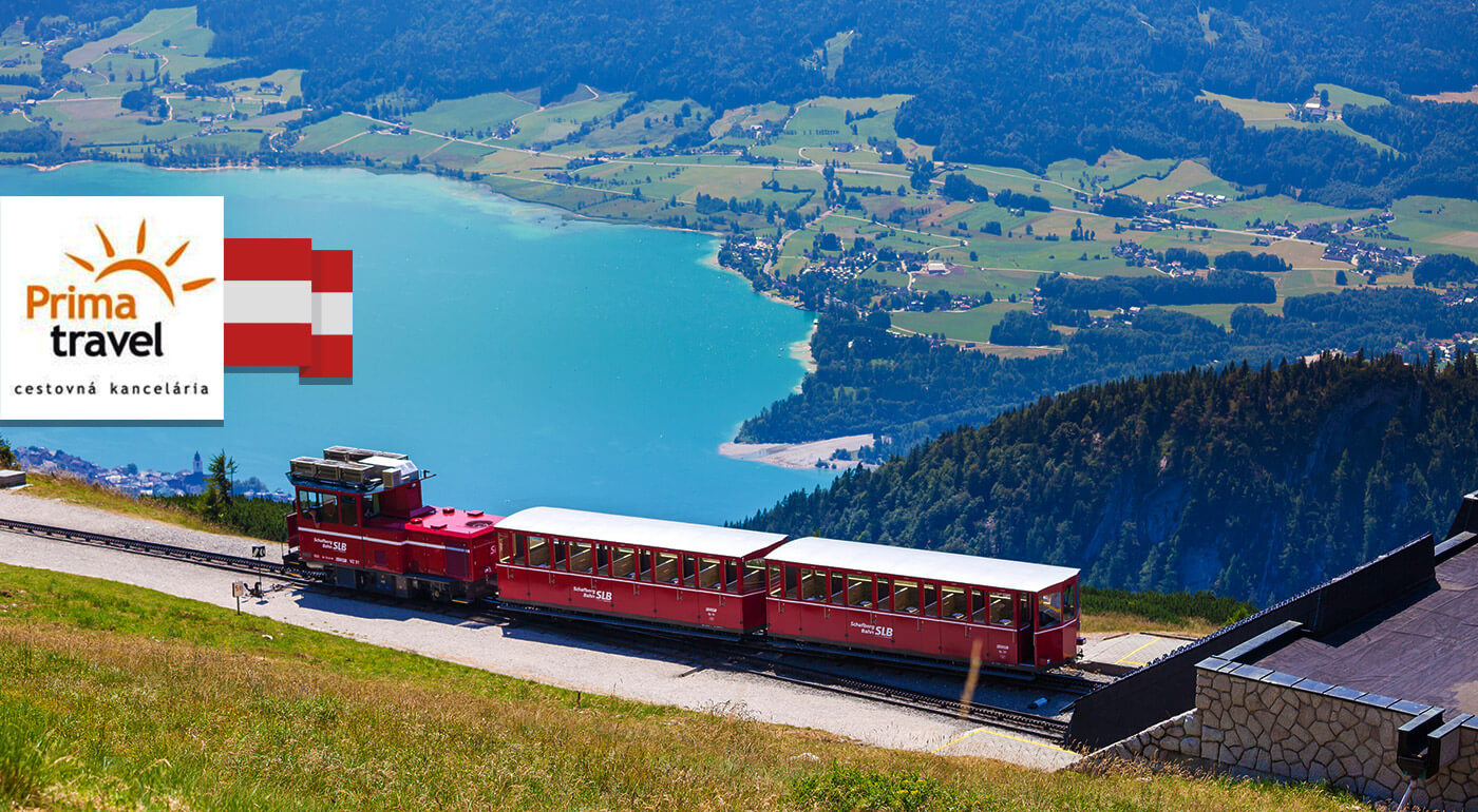 Rakúsko: Alpská rozprávka alebo lokomotívou na horu Schafberg s plavbou po jazere Wolfgangsee