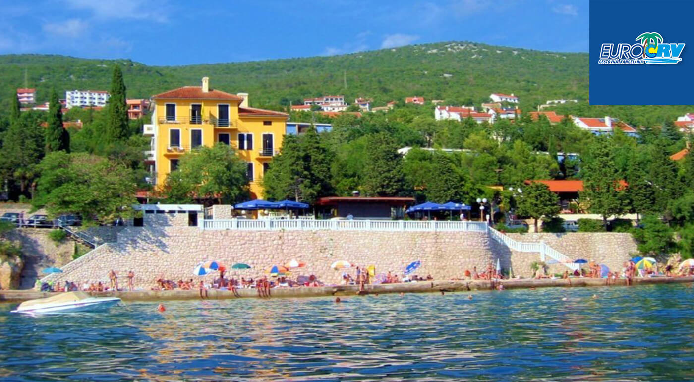LAST MINUTE Chorvátsko: 8 letných dní v Pavilónoch Riviera** v Crikvenici s polpenziou a autobusovou dopravou v cene
