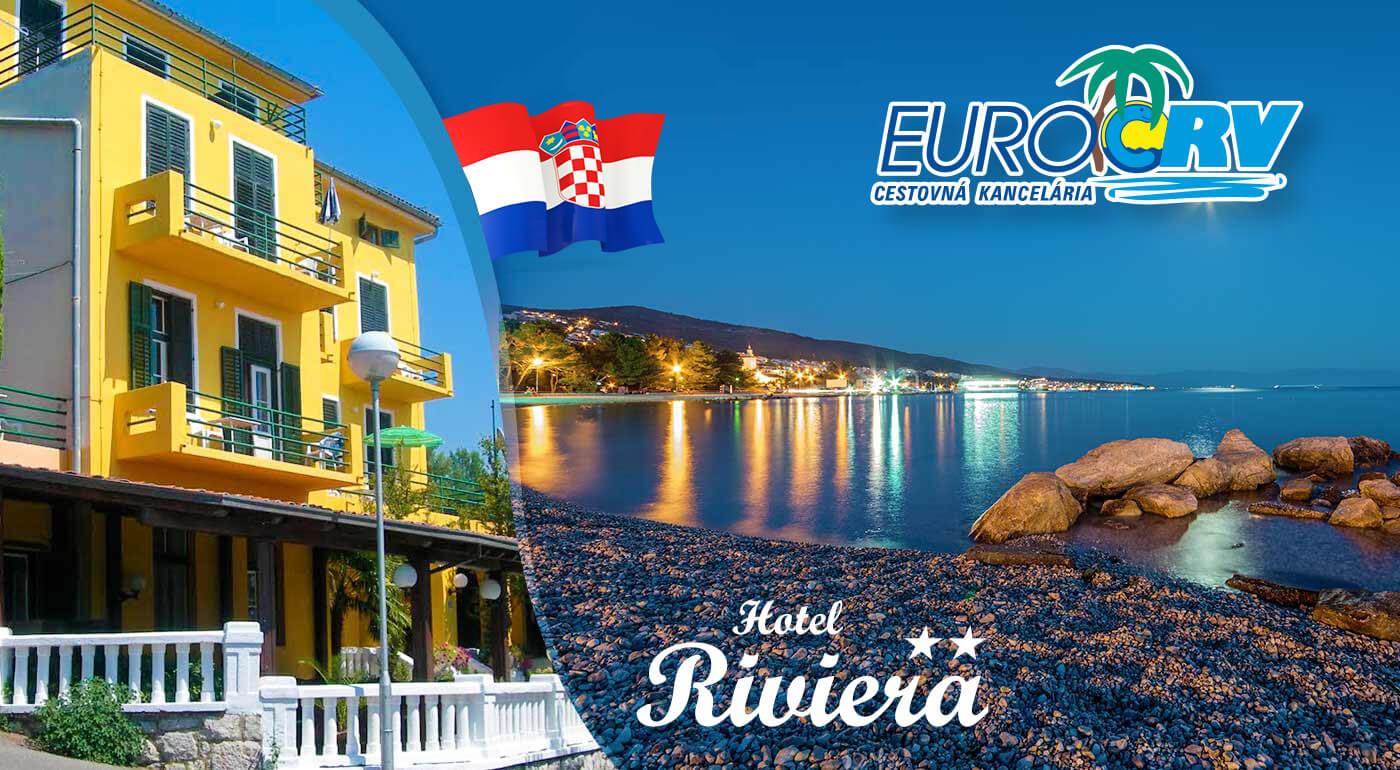 LAST MINUTE Chorvátsko: 8 letných dní v Pavilónoch Riviera** v Crikvenici s polpenziou a autobusovou alebo vlastnou dopravou