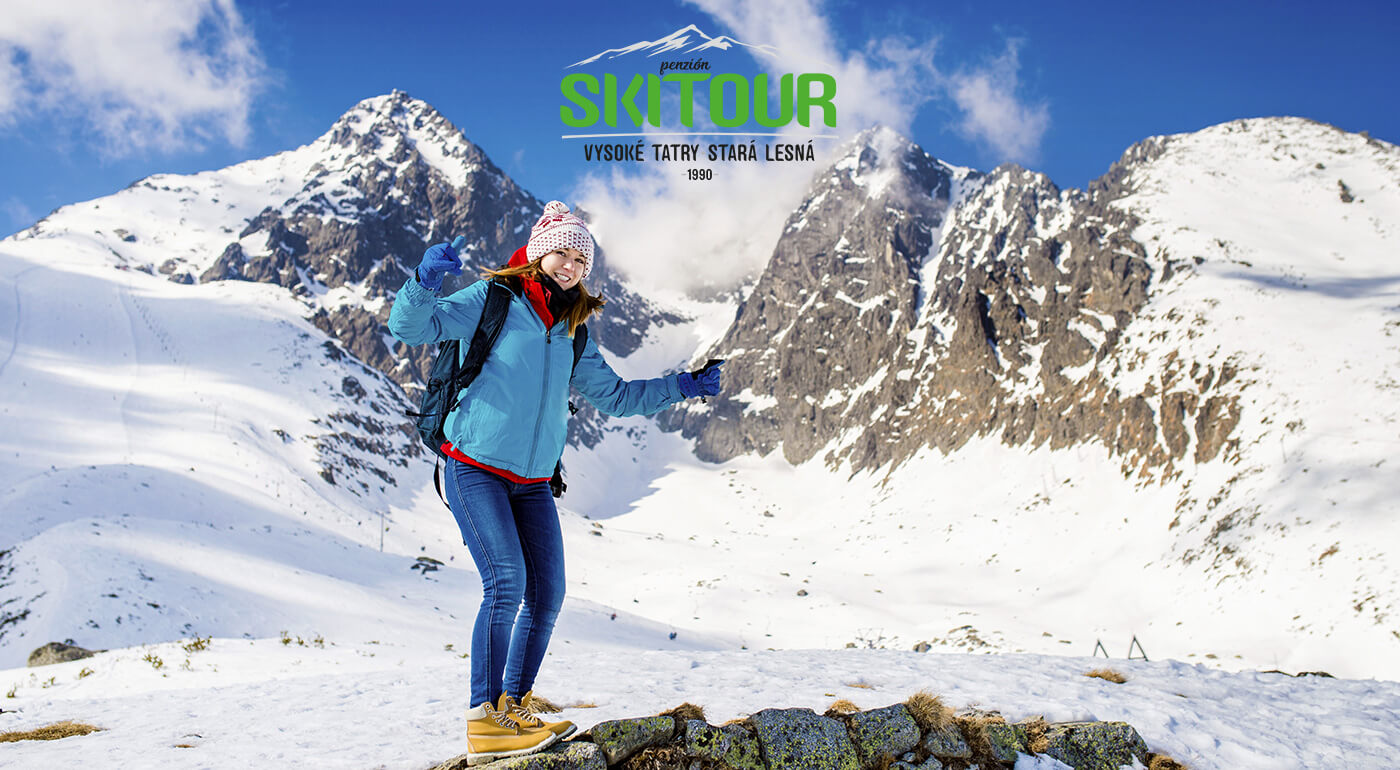 Vysoké Tatry: Jarné prázdniny s rodinnou lyžovačkou v Penzióne Skitour**+ na 4 dni a kúpanie sa v AquaCity Poprad