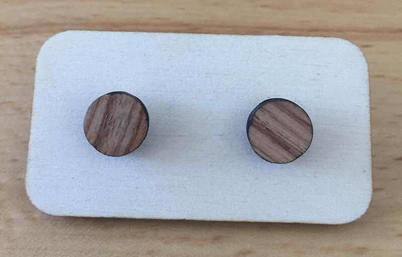 Drevené náušnice - vzor 16 (priemer 1,9 cm)