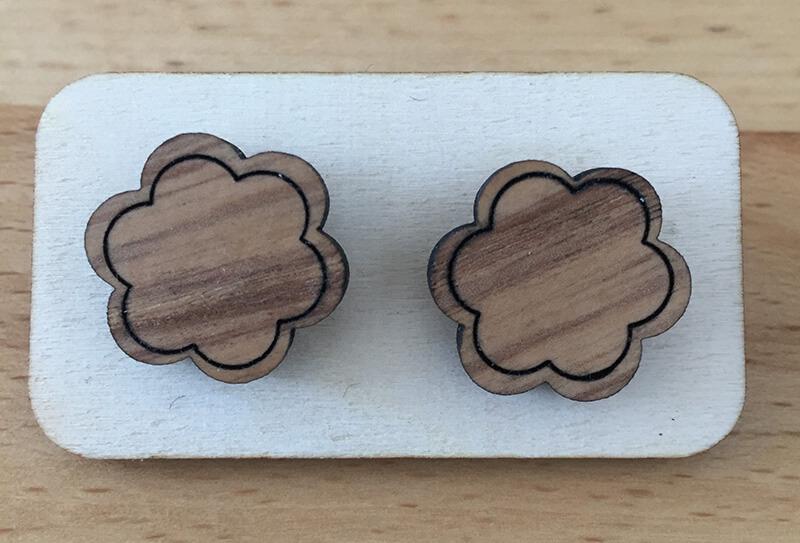 Drevené náušnice - vzor 4 (priemer 2,9 cm)
