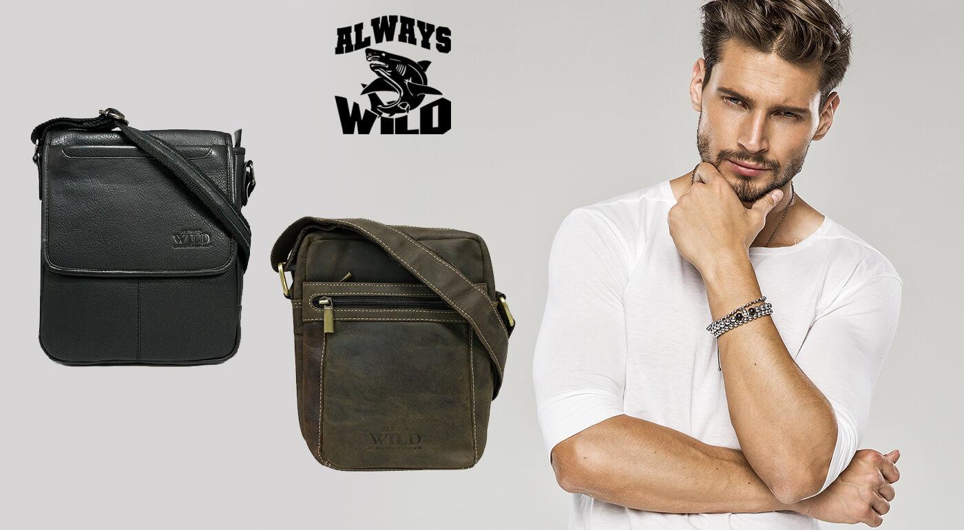 Pánska taška Always WILD z pravej kože
