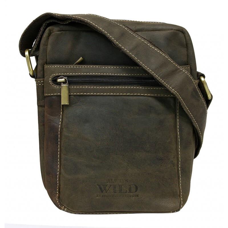 Always Wild 250587-MH pánska celokožená taška (šírka 16 cm x výška 19 cm x hĺbka 6 cm)