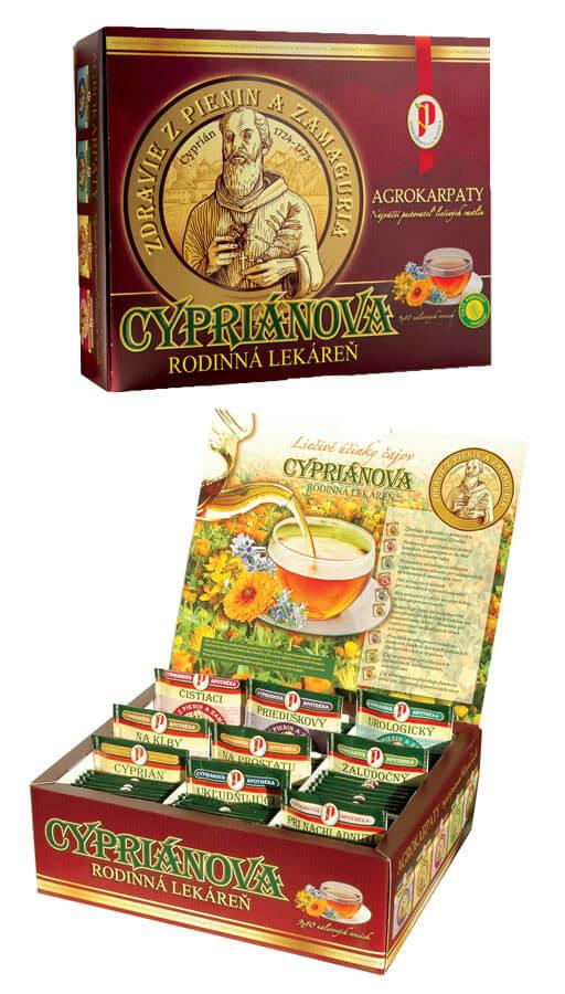 Agrokarpaty Cypriánova rodinná lekáreň čajová kazeta (10x9 druhov čajov)