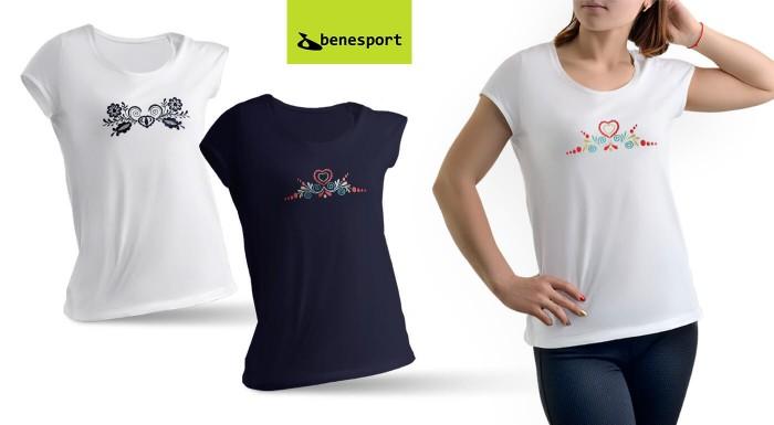 Ľudové tričko pre každú devu! To by mohlo byť heslo slovenského výrobcu Benesport, ktorý pre vás vytvoril novinku - tričká s ľudovou výšivkou. Vzor je vyšitý na tričku, vydrží aj opakované pranie.
