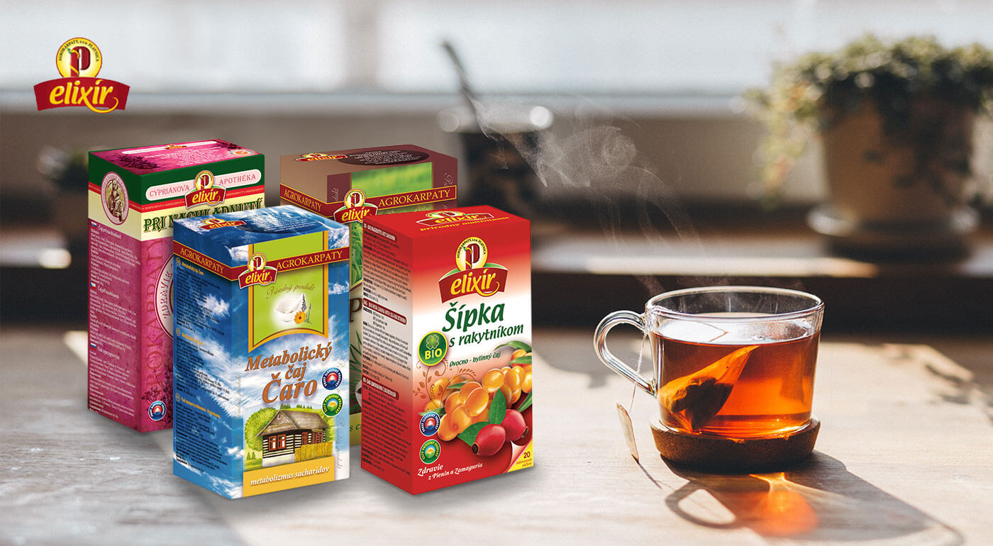 Vrecúškové čaje Agrokarpaty - bylinné a ovocné druhy s liečivými účinkami
