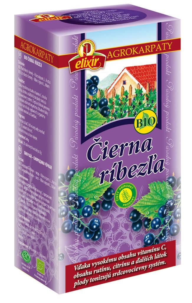 Agrokarpaty Čaj BIO Čierna ríbezľa (20 vreciek)