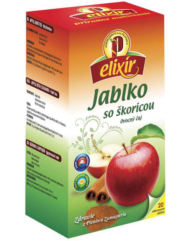 Agrokarpaty Čaj Elixír Jablko so škoricou (20 vreciek)