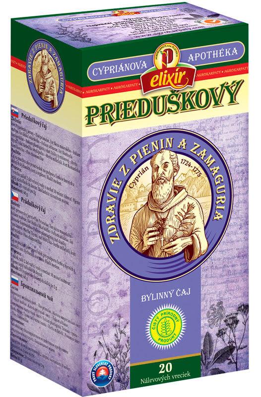 Agrokarpaty Cypriánova apothéka - Prieduškový bylinný čaj (20 vreciek)