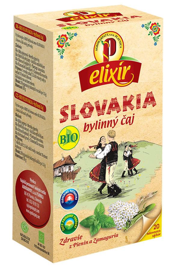 Agrokarpaty Čaj Elixír BIO Slovakia (20 vreciek)