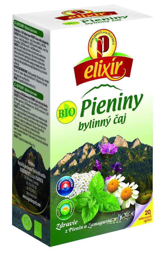 Agrokarpaty Čaj Elixír BIO Pieniny (20 vreciek)